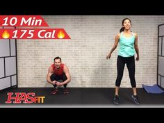 10 Minute Workout : Cardio HIIT Home Workout without Equipment for Fat Loss - Full Body Exercises - YouTube