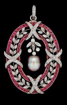Beautiful Brooch Pearl Pink Baguette Leaf Cross Style 925sterling silver jewelry #NikiGems