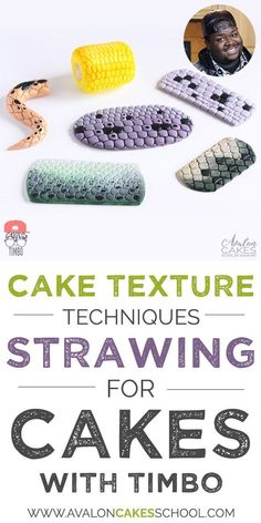 """Ever needed to make snake skin, fish scales, alligator skin or maybe just some corn on the cob? Timbo shows us his super creative way of what he calls """"strawing"""" to get his textures! Video tutorial only on http://avaloncakesschool.com"""