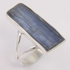 925 Sterling Silver Men's Jewelry Ring Size US 8.75 Natural KYANITE Raw Gemstone #Unbranded