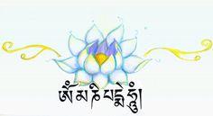 Om Mani Padme Hum Lotus Tattoo