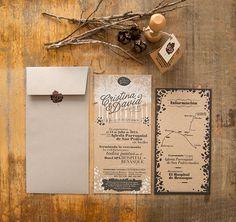 El Calotipo propone una invitación de boda otoñal.