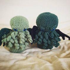 Adopt-a-Creature: 6 tall Beanie Baby Cthulhu Cthulhu, Adoption, Crochet Patterns, Geek Stuff, Crochet Hats, Beanie, Creatures, Stitch, Projects