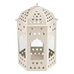 A stunning die cut heart design lantern. With a beautiful cream frame, just pop a tea-light in and enjoy the summer ambience.18x12cm…