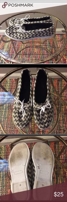 BLACK & WHITE PRINTED LOAFERS Feel free to ask any questions, make a reasonable offer, or add to a bundle for 15% off 2 or more items. Shoes Flats & Loafers
