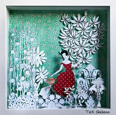 Papercut Art - Tati Galiano. Papercut Art, Ilustración, Collage