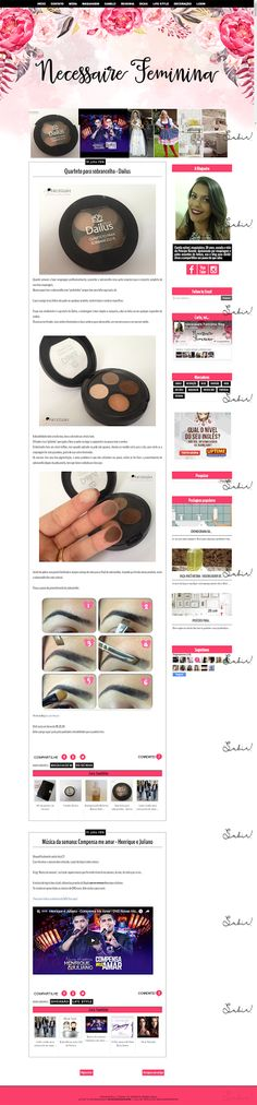 Layout Responsivo cliente Blog Necessarie Feminina
