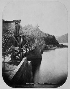 bridge rural west virginia historic | bridge, sign showing prices, 1862. William Forbes Collection, West ...