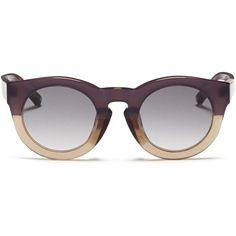 7dcfa86a554f 3.1 Phillip Lim x Linda Farrow chunky round keyhole acetate sunglasses  ( 270) ❤ liked