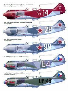 LA-7 Soviet fighter. Color optios.