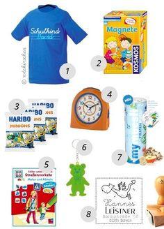 Beispiel: Schultüteninhalt für Jungen + Liste mit 131 Geschenkideen für die Schultüte zur Einschulung