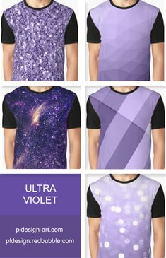 Trendy Pantone color of year 2018 Ultra violet purple sparkles, bokeh, geometric lines, mesh, abstract galaxy men's graphic t-shirt apparel and more by #PLdesign #style #fashion #apparel @redbubble