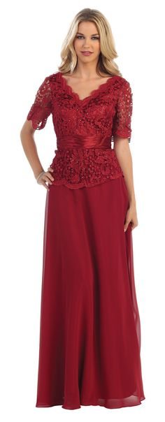 Short Sleeve 2016 Mother of the Bride Long Gown Plus Size
