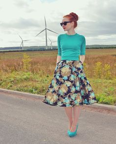 Forever Amber in Bettie Page skirt and sweater