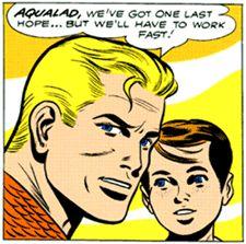 Ramona Fradon- Aquaman artist in Adventure Comics 1951 to 1961, with Aqualad