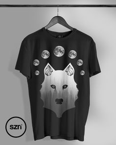 4342518f White Wolf Design - 7 Moons for the lone wolf, designed by our very own