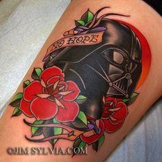 Traditional Darth Vader Tattoo by Jim Sylvia