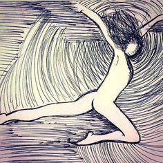 08.2014  #umdesenhotododia #udtd #art #arte #brazilianart #ink #drawing #doodle #sketch #sketchbook #dance #energy #flow #inspiration #roselices