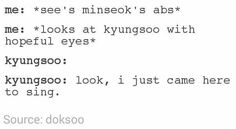 Dreaming of Kyungsoo and abs