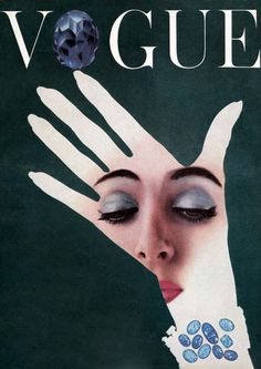 Magazine Cover:  Vintage Vogue Cover, Hand, 1954
