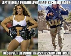 As a Philadelphia Eagles cheerleader, Rachel Washburn toted pom-poms. As an Army intelligence officer with a special ops combat unit in Afghanistan, she...