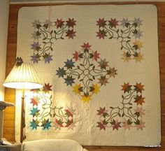 What a beautiful Carolina Lily quilt, very different  setting.