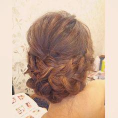 #ヘアアレンジ #ヘアセット#ヘアスタイル#ヘアメイク #ヘア #編み込み #ルーズ #hair#hairarrange #wedding #結婚式#ルーズアレンジ #bridal#updo #花嫁#プレ花嫁