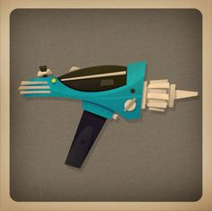 Ray gun by Matt Kaufenberg. Paige: I like the idea of our little creature, Fitz, having a weapon to compensate for his lack of ability to fight. And it would be comedic to see such a cute harmless creature take on a weapon like that.