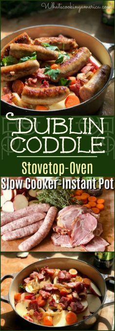 Dublin Coddle - Ultimate slow cooked Irish one-pot meal of potatoes, onions, bacon and sausage Dublin Food, Dublin Pubs, Dublin Hotels, Dublin Travel, Dublin Ireland, Ireland Travel, Dublin Library, Dublin Map, Dublin Ohio