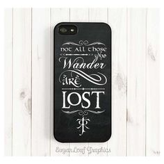 Tolkien Quote iPhone Case, Tolkien Signature Symbol and Hobbit Font,... ❤ liked on Polyvore featuring accessories, tech accessories, phone cases, apple iphone cases, galaxy iphone case, iphone sleeve case, iphone cases and iphone cover case