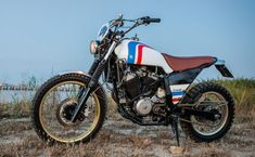 A Honda Transalp is customized to … a scrambler. The Honda Scransalp…