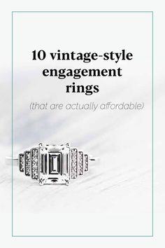 Searching for an engagement ring thats both timeless yet modern A vintage style engagement ring could be the perfect choice for you. Theyre romantic Vintage Style Engagement Rings, Most Beautiful Pictures, Getting Married, In The Heights, Searching, Told You So, Vintage Fashion, Romantic, Modern