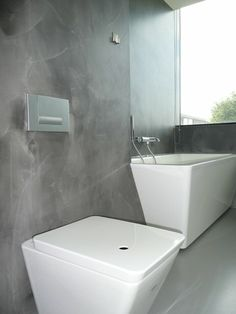 Badkamer gietvloer Toilet, Bathtub, Bathroom, House, Walls, Colors, Washroom, Self, Standing Bath
