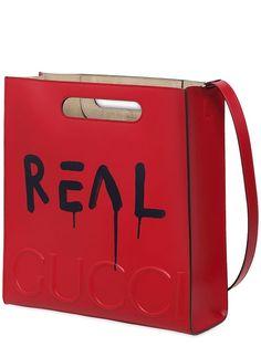 gucci - men - handbags - ghost print leather tote bag