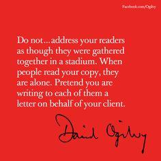 Ogilvyism #DavidOgilvy #Quote