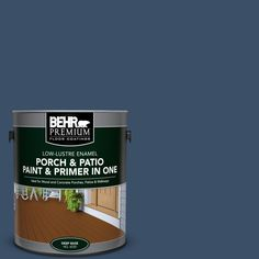 BEHR Premium 1 gal. #M510-7 Inked Low-Lustre Interior/Exterior Paint and Primer In One Porch and Patio Floor Paint
