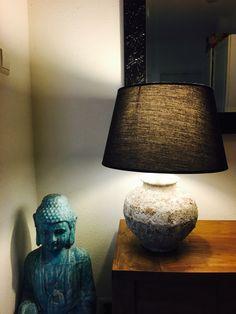 Keramische Buddha en tafellamp ❤️