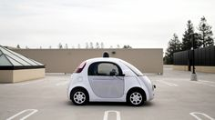 A prototype of Google's own self-driving vehicle is seen during a media preview of Google's current autonomous vehicles in Mountain View, California September 29, 2015.