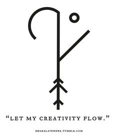 "mearalavender: "" ""Let my creativity flow."" Sigil Sunday! May this sigil be in your favour. ♥ Feel free to use it, but please don't post it as your own. Thank you. """