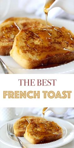 Healthy French Toast, Best French Toast, French Bread French Toast, Cinnamon French Toast, Best Recipe For French Toast, French Toast With Bananas, French Toast Challah Bread, French Toast Receta, French Toast Recipes