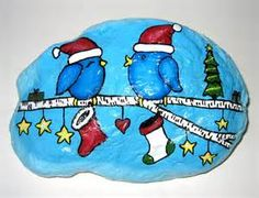 images of christmas painted rocks - Bing images