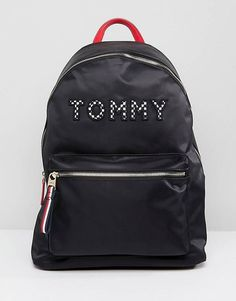 Tommy Hilfiger Logo Backpack With Checkerboard Straps
