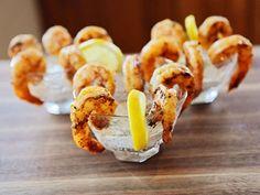 Fish Recipes, Seafood Recipes, Appetizer Recipes, Brunch Appetizers, Grilled Recipes, Shrimp Appetizers, Food Network Recipes, Cooking Recipes