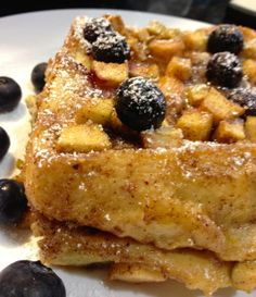 Baked French Toast Casserole with Apples and Blueberries!
