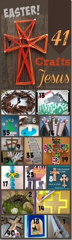41 fun, creative Easter crafts for kids - perfect kids activities for Sunday School Lessons. SO many creative ideas!!!