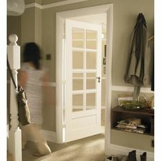 Contemporary Glazed Solid Internal Door 8 Light - 762mm wide from Homebase.co.uk Home Board, Room Doors, Internal Doors, Double Doors, Wooden Doors, Door Design, French Doors, Tall Cabinet Storage, My House