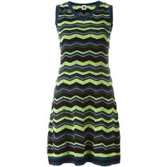 M Missoni Zigzag Knit Dress ($409) ❤ liked on Polyvore featuring dresses, multicolour, multicolored dress, zigzag dress, multi color dress, multi-color dress and multi colored dress