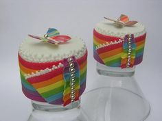 Colorful Mini Rainbow Butterfly Little Cakes