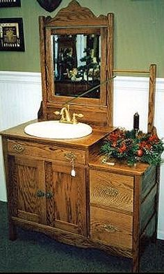 antique bathroom vanity choose genuine or - Vintage Bathroom Vanity