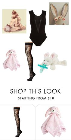 """Bunny"" by baby-cookie ❤ liked on Polyvore featuring Fleur du Mal, Wolford and WubbaNub"